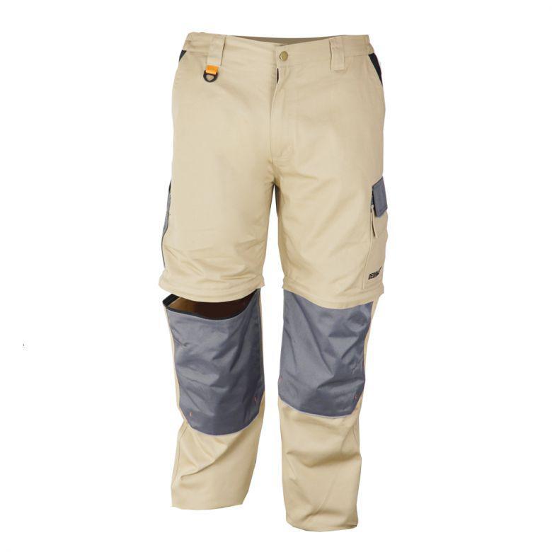 Spodnie ochronne 2 w 1 DEDRA BH41SR-L, 100% bawełna, Cotton line 270g/m2, odpinane nogawki, Rozmiar L