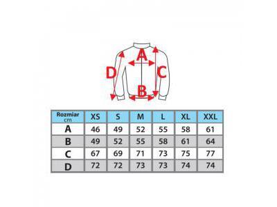 Kurtka softshell damska DEDRA BH65KS-L 96% poliester + 4% elastan Rozmiar L