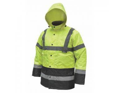 Parka, kurtka przedłużona DEDRA BH80K3-XL rozmiar XL, żółta