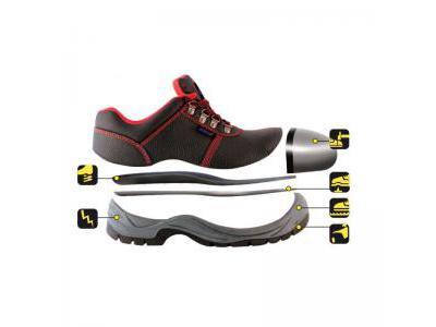 Półbuty bezpieczne, buty BHP DEDRA BH9P1A-41 skórzane, rozmiar: 41, kat.S1P SRC