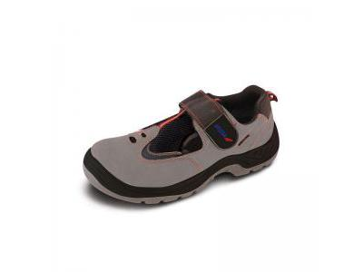 Sandały bezpieczne, buty BHP DEDRA BH9D2-44 nubuk PU, rozmiar: 44, kat.S1 SRC