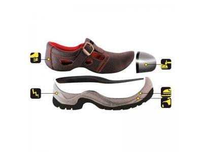 Sandały bezpieczne, buty BHP DEDRA BH9D1-43 skórzane, rozmiar: 43, kat.S1 SRC
