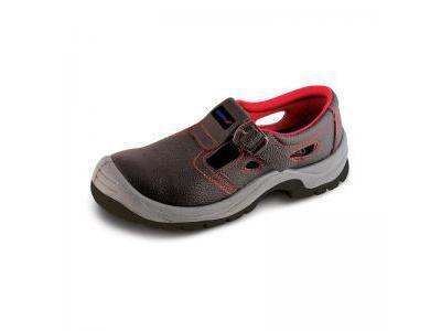 Sandały bezpieczne, buty BHP DEDRA BH9D1-42 skórzane, rozmiar: 42, kat.S1 SRC