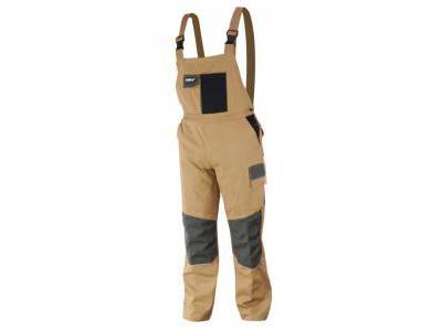 Spodnie ochronne ogrodniczki DEDRA BH42SO-L, 97% bawełna +3% elastan, Slim line 270g/m2, rozmiar L